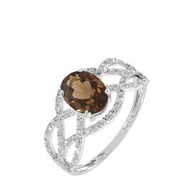 Bague Tina Or Blanc Quartz Et Diamant - Bagues solitaires Femme | Histoire d'Or