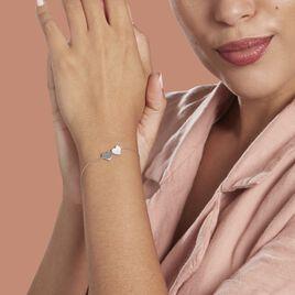 Bracelet Apollonius Argent Rhodié Oxyde De Zirconium - Bracelets Coeur Femme | Histoire d'Or