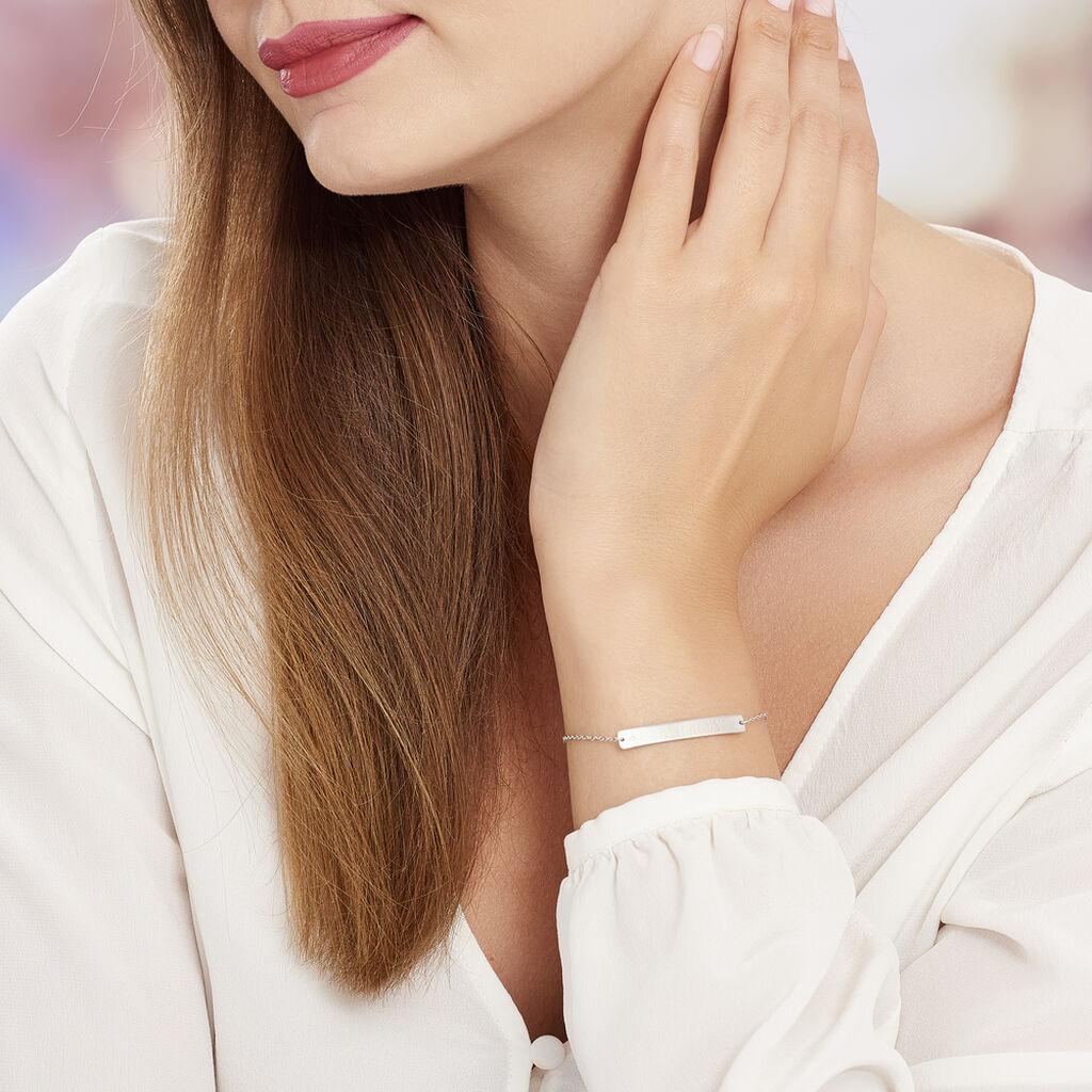 Bracelet Suzeanne Argent Blanc Oxyde De Zirconium - Bracelets fantaisie Femme   Histoire d'Or