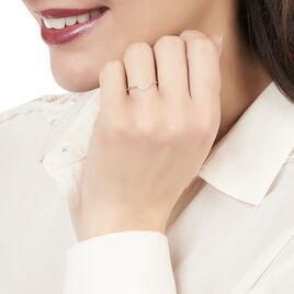 Bague Herveva Or Blanc Diamant - Bagues avec pierre Femme   Histoire d'Or