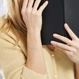 Bracelet Douglas Argent Blanc Oxyde De Zirconium - Bracelets Arbre de vie Femme | Histoire d'Or