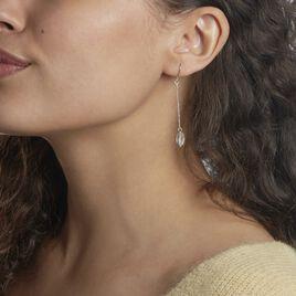 Boucles D'oreilles Pendantes Sirene Argent Blanc Cristaux De Swarovski - Boucles d'oreilles fantaisie Femme   Histoire d'Or
