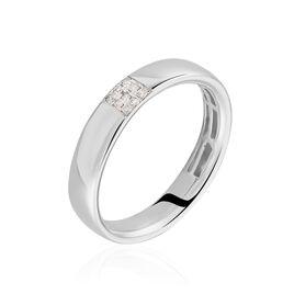 Bague Hajila Or Blanc Diamant - Bagues avec pierre Femme | Histoire d'Or