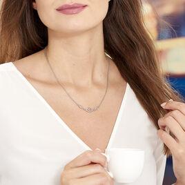 Collier Mahee Argent Blanc - Colliers fantaisie Femme | Histoire d'Or
