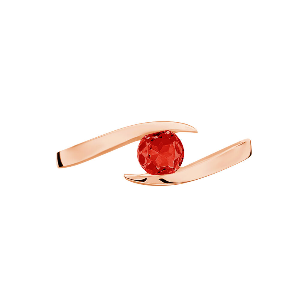 Bague Tiphaine Or Rose Rubis