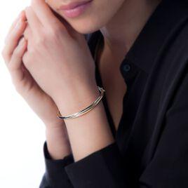 Bracelet Jonc Catalin 2 Fils Flexibles Or Bicolore - Bracelets joncs Femme | Histoire d'Or