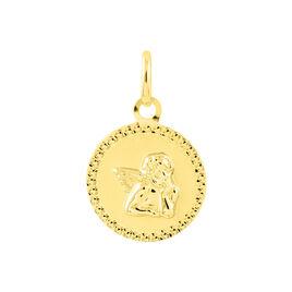 Pendentif Ange Rond Cisele Or Jaune - Pendentifs Unisexe | Histoire d'Or
