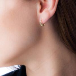 Créoles Anaitz Torsadees Fil Bombe Or Jaune - Boucles d'oreilles créoles Femme | Histoire d'Or