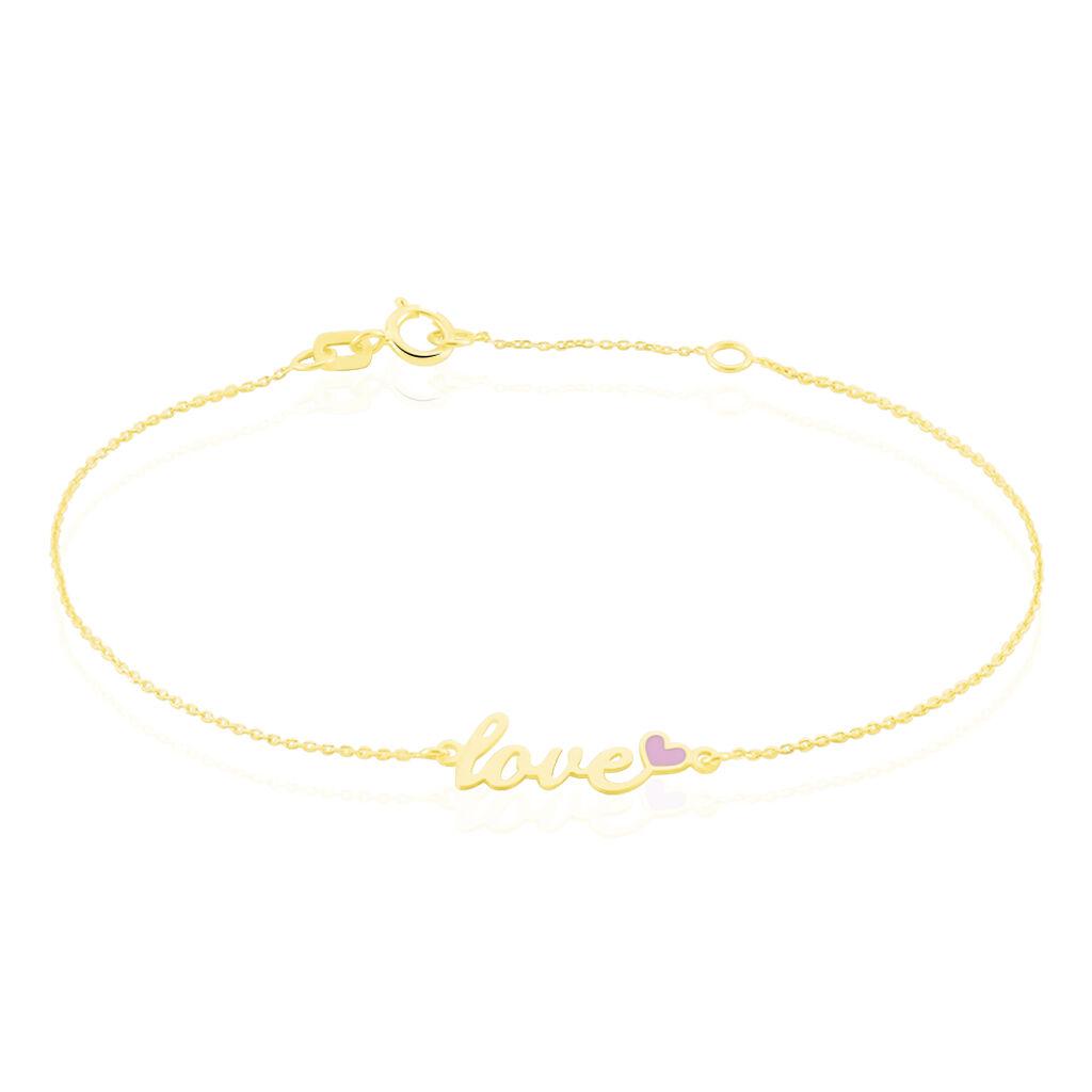 Bracelet Or Jaune - Bracelets Infini Femme   Histoire d'Or