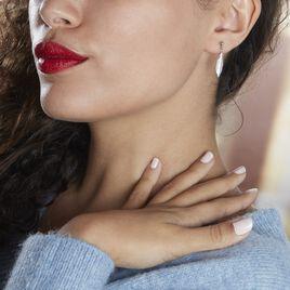 Boucles D'oreilles Pendantes Euriell Argent Rhodié - Boucles d'Oreilles Plume Femme   Histoire d'Or