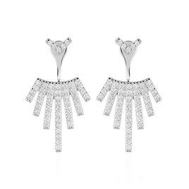 Bijoux D'oreilles Neli Argent Blanc Oxyde De Zirconium - Ear cuffs Femme   Histoire d'Or