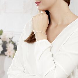 Bracelet Charline Or Blanc Oxyde De Zirconium - Bijoux Femme   Histoire d'Or
