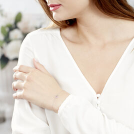 Bracelet Eliana Or Blanc Amethyste Et Diamant - Bracelets Coeur Femme   Histoire d'Or