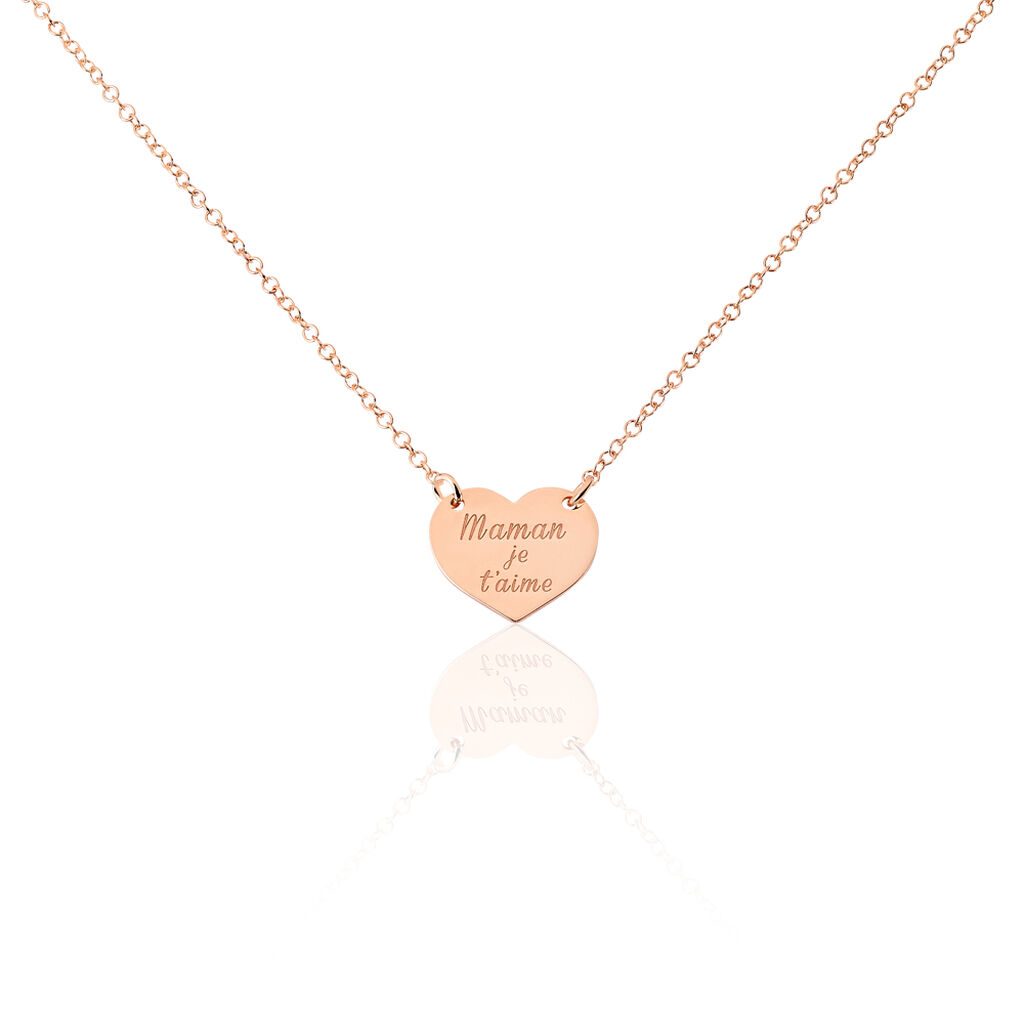 Collier Betie Argent Rose - Colliers Coeur Femme | Histoire d'Or