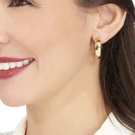 Créoles Telly Jonc Plat Or Jaune - Boucles d'oreilles créoles Femme   Histoire d'Or