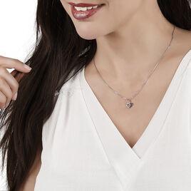 Collier Annabella Argent Blanc Oxyde De Zirconium - Colliers Coeur Femme | Histoire d'Or