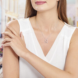 Collier Patrizia Argent Blanc Oxyde De Zirconium - Colliers Coeur Femme | Histoire d'Or
