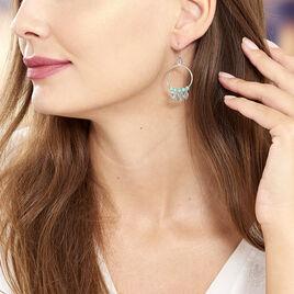 Boucles D'oreilles Pendantes Polyna Argent Blanc Pierre De Synthese - Boucles d'oreilles fantaisie Femme | Histoire d'Or