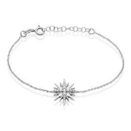 Bracelet Berta Argent Blanc Oxyde De Zirconium - Bracelets fantaisie Femme   Histoire d'Or