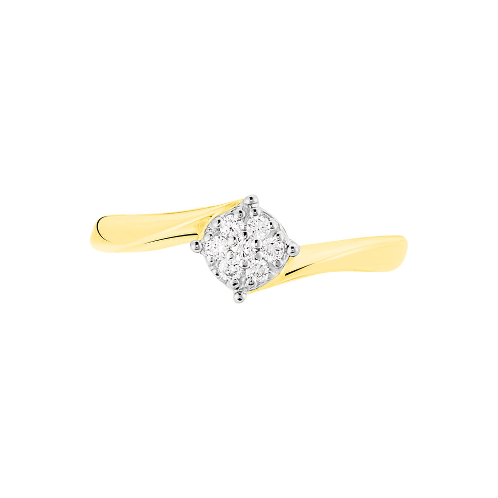 Bague Solitaire Lysia Or Jaune Diamant