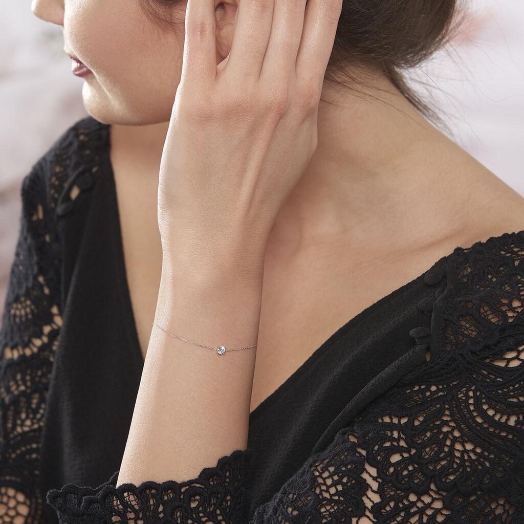 Bracelet Adula Or Blanc Oxyde De Zirconium - Bijoux Femme | Histoire d'Or