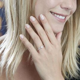 Bague Solitaire Laetitia Platine Blanc Diamant - Bagues avec pierre Femme   Histoire d'Or