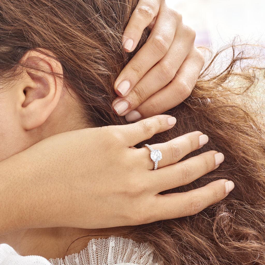 Bague Solitaire Terese Or Blanc Oxyde De Zirconium - Bagues solitaires Femme | Histoire d'Or