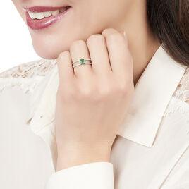 Bague Rubina Or Blanc Diamant Et Emeraude - Bagues solitaires Femme | Histoire d'Or