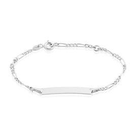 Bracelet Identité Bebe Bartolomee Or Blanc - Bracelets Communion Enfant | Histoire d'Or
