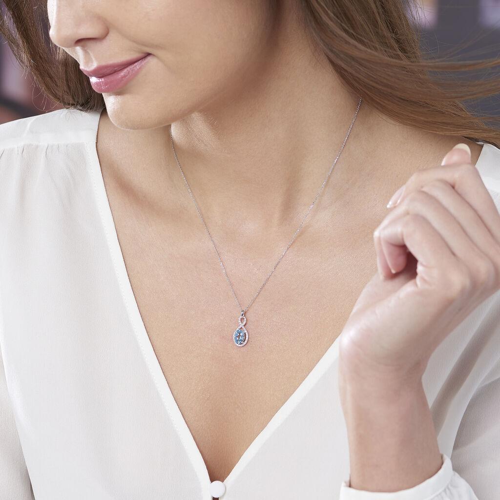 Collier Passion Or Blanc Topaze Et Oxyde De Zirconium - Bijoux Femme   Histoire d'Or