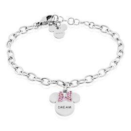 Bracelet Disney Acier Blanc Cristaux - Bracelets Naissance Enfant   Histoire d'Or