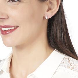 Boucles D'oreilles Pendantes Auria Or Jaune Oxyde De Zirconium - Boucles d'oreilles pendantes Femme | Histoire d'Or