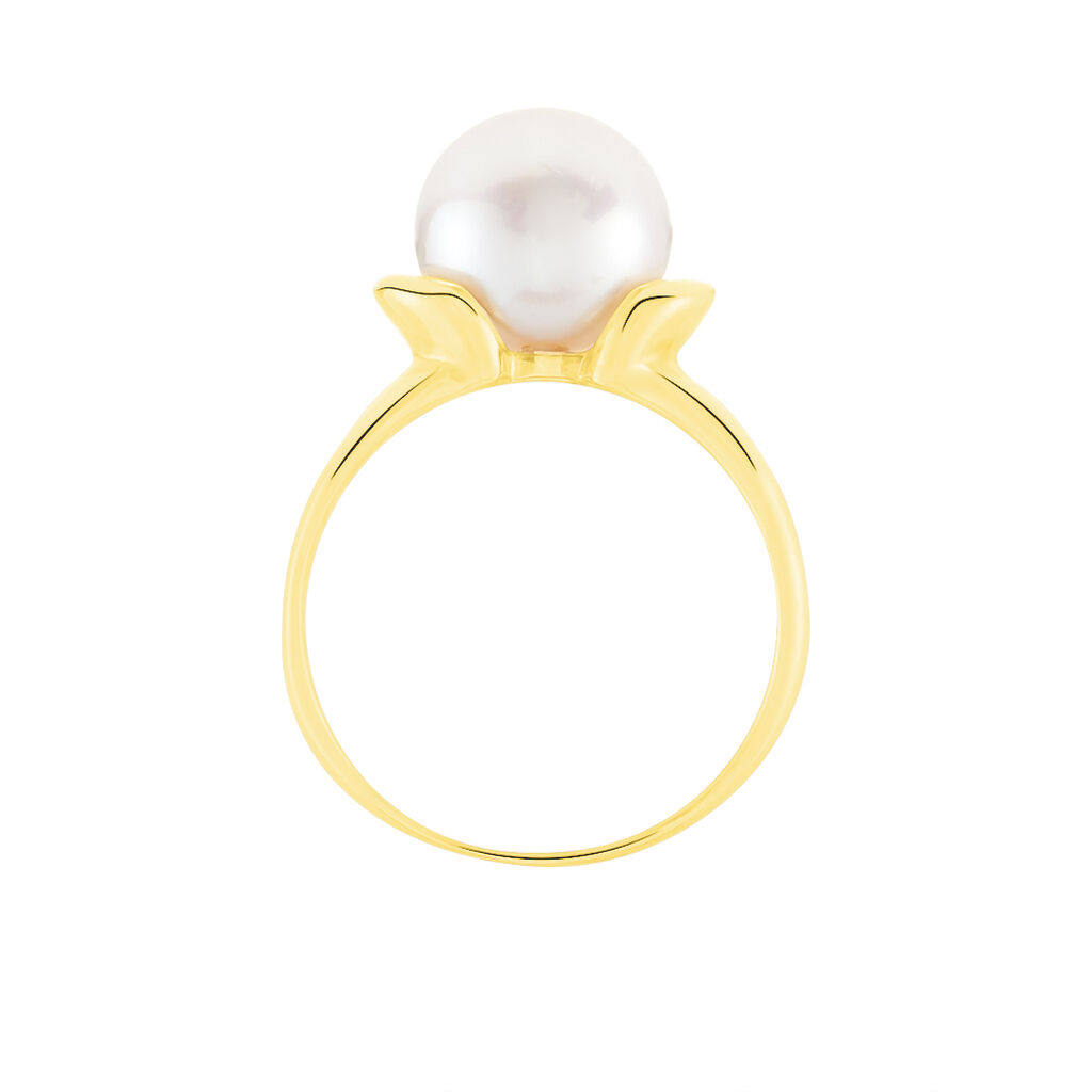 Bague Tounes Or Jaune Perle De Culture