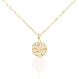 Collier Maria-carmen Plaque Or Jaune Oxyde De Zirconium - Colliers Etoile Femme | Histoire d'Or