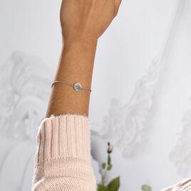 Bracelet Blanka Argent Blanc - Bracelets fantaisie Femme   Histoire d'Or