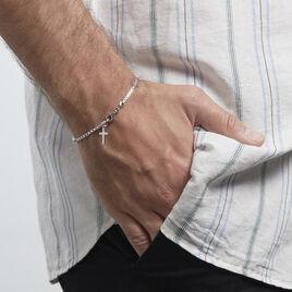 Bracelet Argent Doré Cid - Bracelets Croix Homme   Histoire d'Or