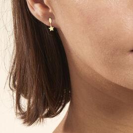 Boucles D'oreilles Pendantes Alphonsine Etoile Or Jaune - Boucles d'Oreilles Etoile Femme | Histoire d'Or