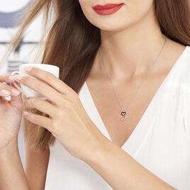 Collier Lio Argent Blanc Oxyde De Zirconium - Colliers Coeur Femme | Histoire d'Or