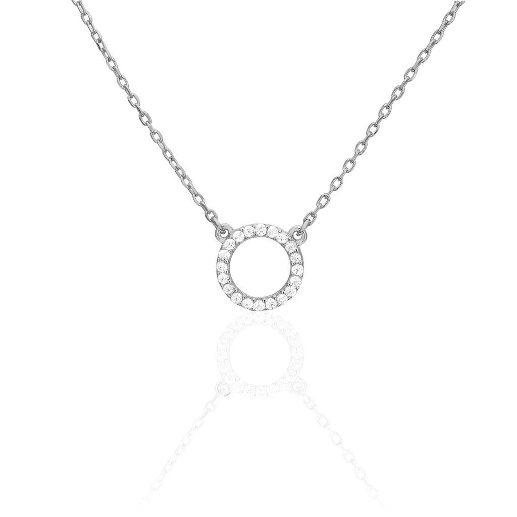 Collier Jaya Argent Blanc Oxyde De Zirconium - Colliers fantaisie Femme | Histoire d'Or
