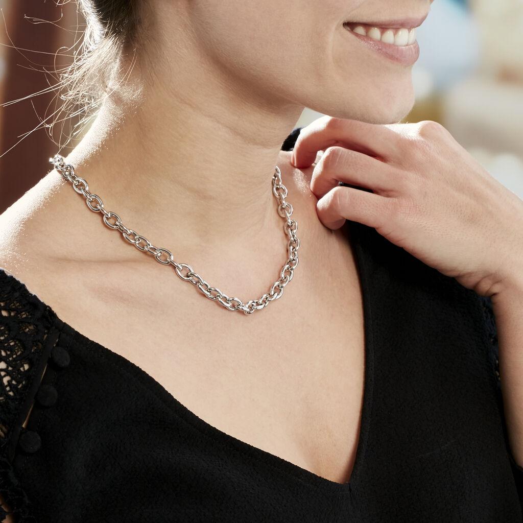 Collier Acelia Argent Blanc - Bijoux Femme | Histoire d'Or