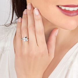 Bague Elorria Or Blanc Diamant - Bagues avec pierre Femme | Histoire d'Or