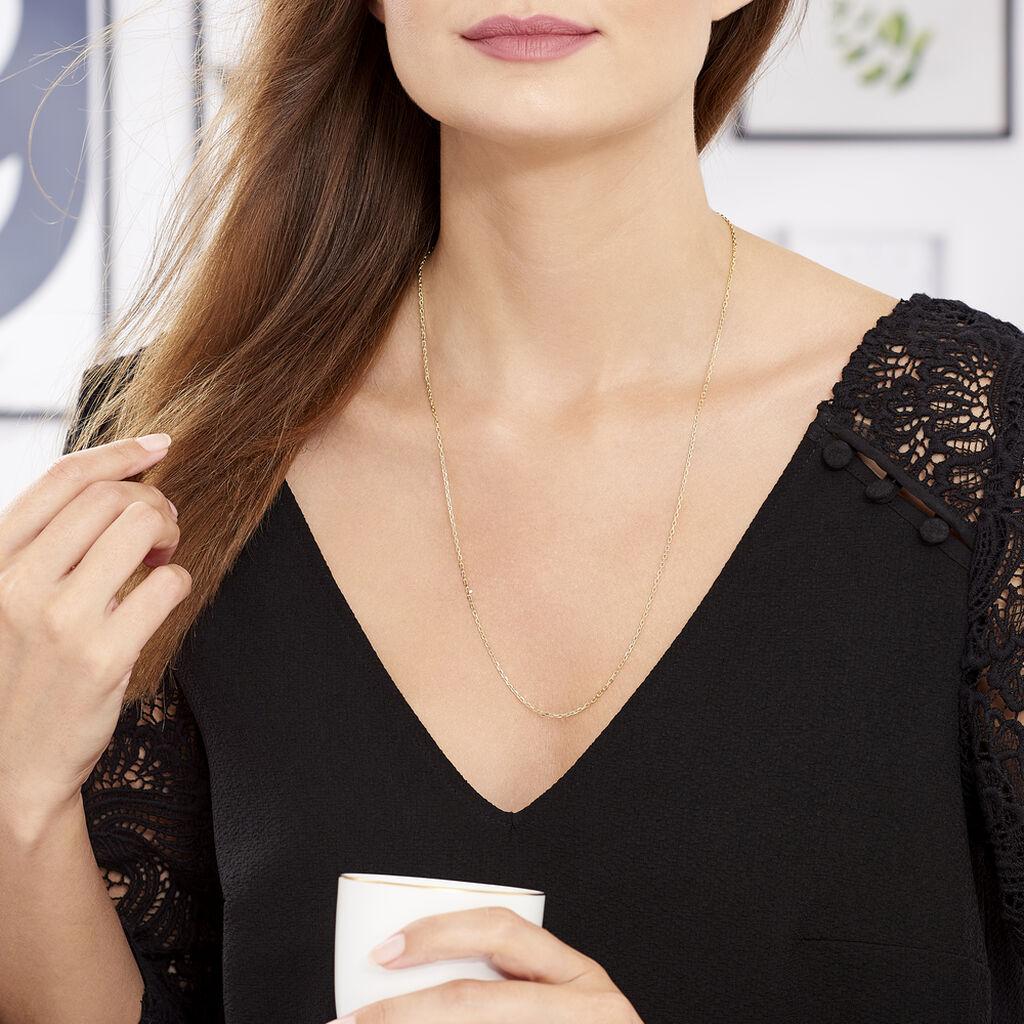Chaîne Igoa Maille Forçat Diamantee Or Jaune - Chaines Unisex | Histoire d'Or