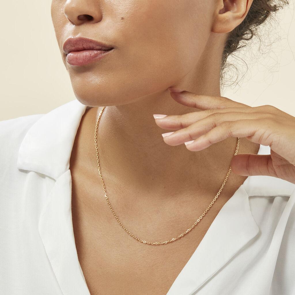 Chaîne Igoa Maille Forçat Diamantee Or Jaune - Chaines Femme | Histoire d'Or