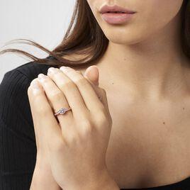 Bague Solitaire Arjuna Or Rose Oxyde De Zirconium - Bagues avec pierre Femme | Histoire d'Or