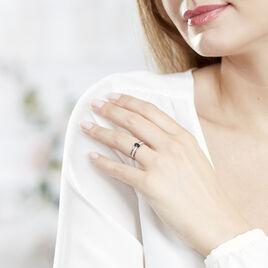 Bague Enea Or Blanc Saphir Et Diamant - Bagues solitaires Femme   Histoire d'Or