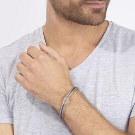 Bracelet Acier Blanc - Bijoux Homme   Histoire d'Or