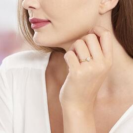 Bague Zelima Plaque Or Jaune Oxyde De Zirconium - Bagues Coeur Femme | Histoire d'Or