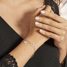 Bracelet Argent Blanc Laux - Bracelets Coeur Femme | Histoire d'Or