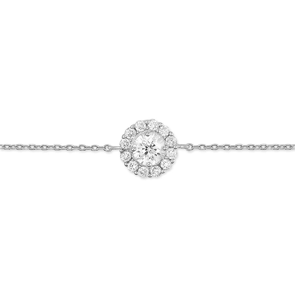 Bracelet Princess Argent Blanc Oxyde De Zirconium - Bracelets fantaisie Femme | Histoire d'Or