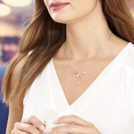 Collier Eyline Argent Blanc Oxyde De Zirconium - Bijoux Femme   Histoire d'Or